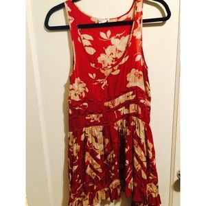 Free People Floral Lace Voile Slip Dress